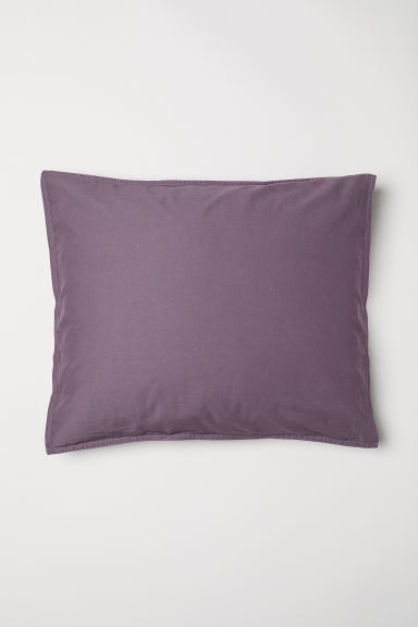 Washed cotton pillowcase - Purple - Home All | H&M CN