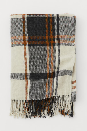 Chenille plaid