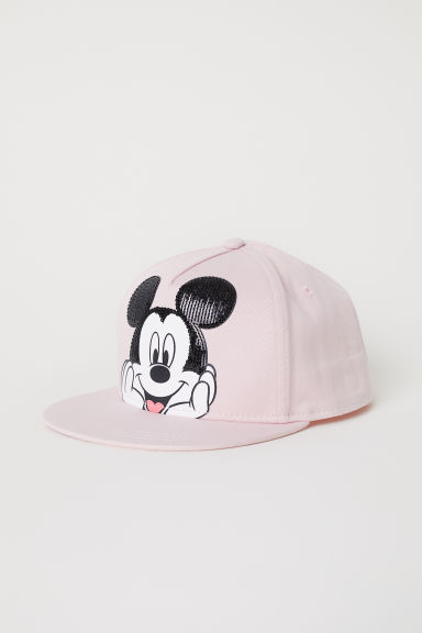 Cap with sequins - Powder pink/Mickey Mouse - Kids | H&M