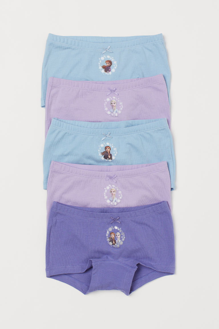 5-pack cotton boxer briefs - Purple/Frozen - Kids | H&M