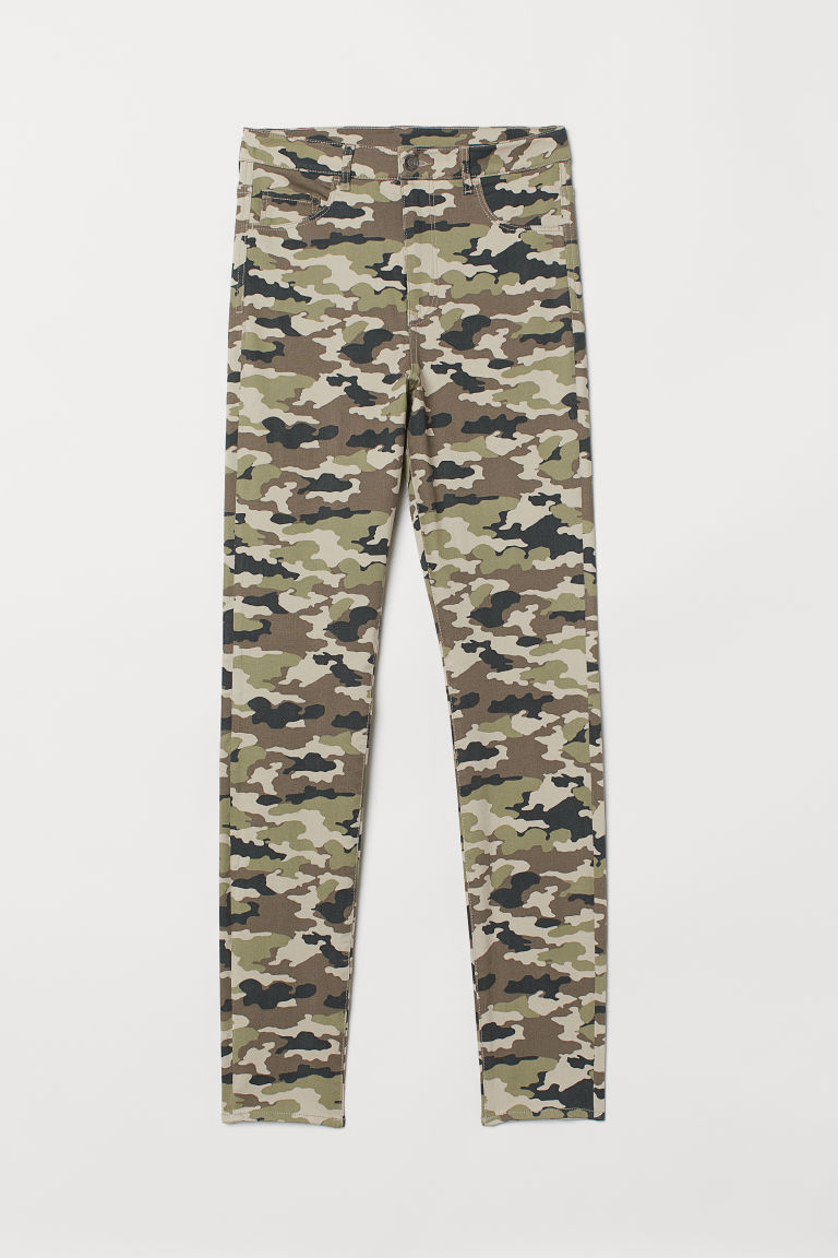 Super Skinny High Jeggings - Khakigrün/Gemustert -  | H&M AT