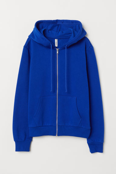 Hooded jacket - Bright blue -  | H&M