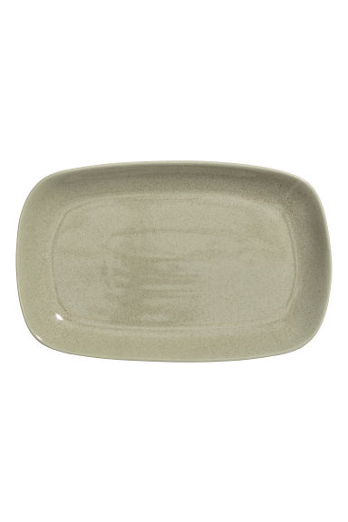 Stoneware serving dish - Dusky green -  | H&M GB