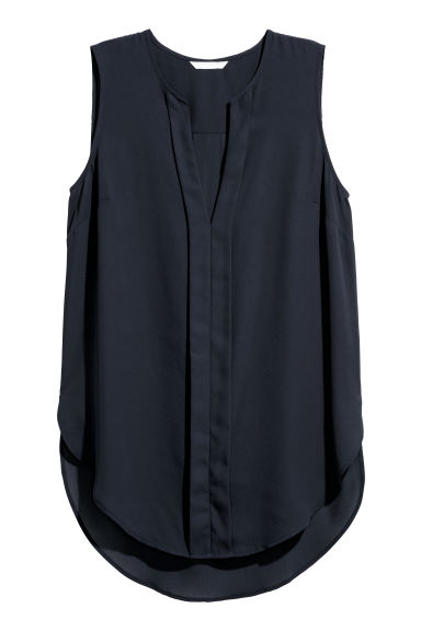 V-neck blouse - Dark blue -  | H&M IE