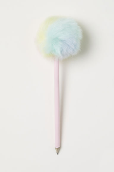Pencil with a pompom - Pink/Rainbow-coloured - Kids | H&M