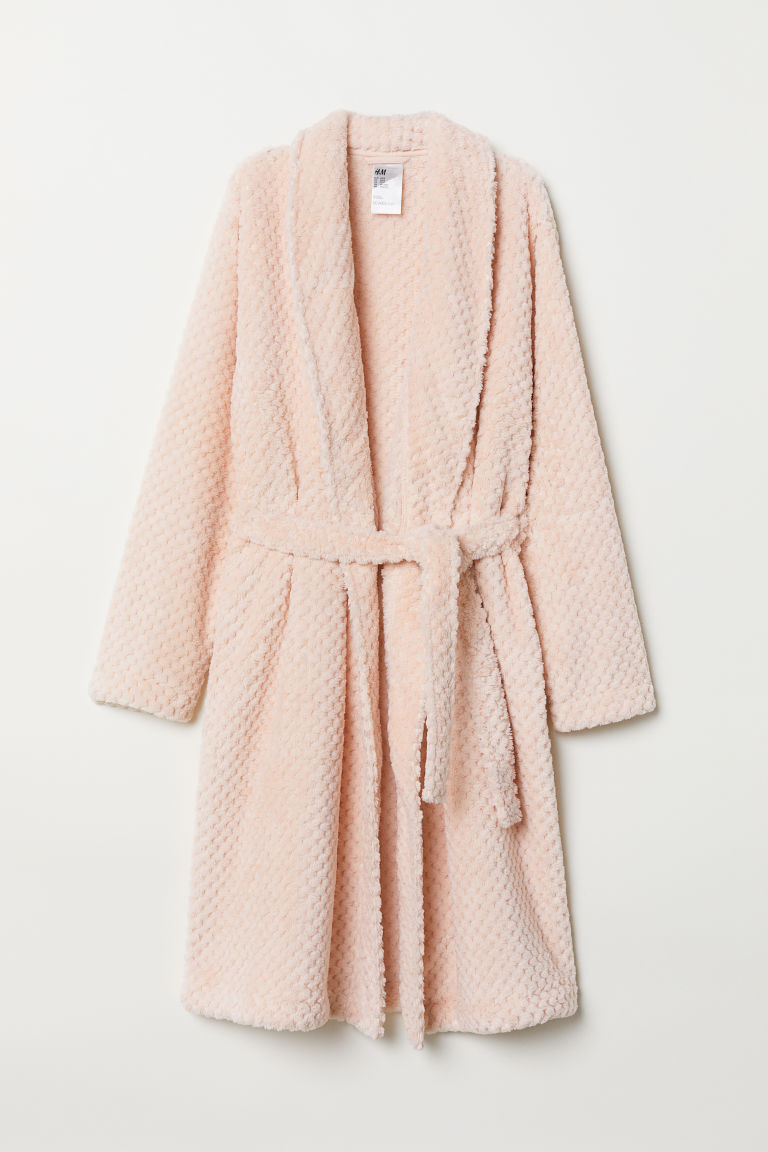 Pile dressing gown - Light pink - Ladies | H&M GB