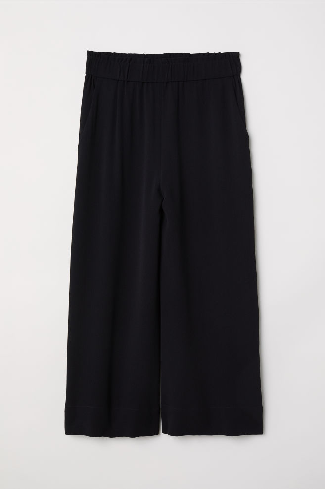 Jupe-culotte en crêpe - Noir - FEMME | H&M FR 5