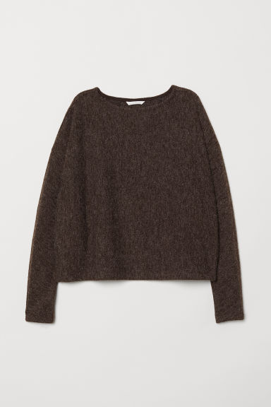 Sweater with Dolman Sleeves - Dark brown melange - Ladies | H&M US