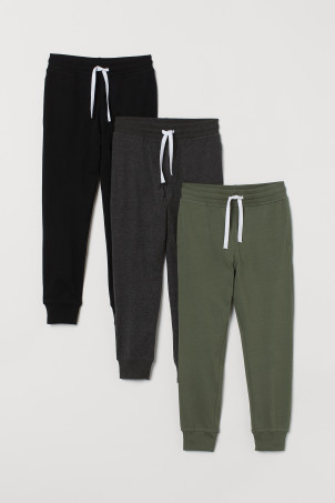 3-pack Cotton Jersey Joggers
