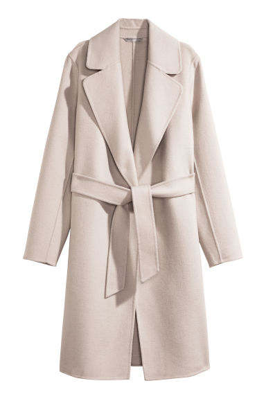 Felted wool-blend coat - Beige - Ladies | H&M