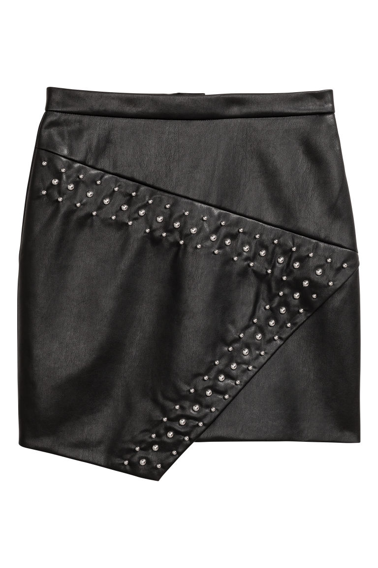 Skirt with studs - Black - Ladies | H&M IE