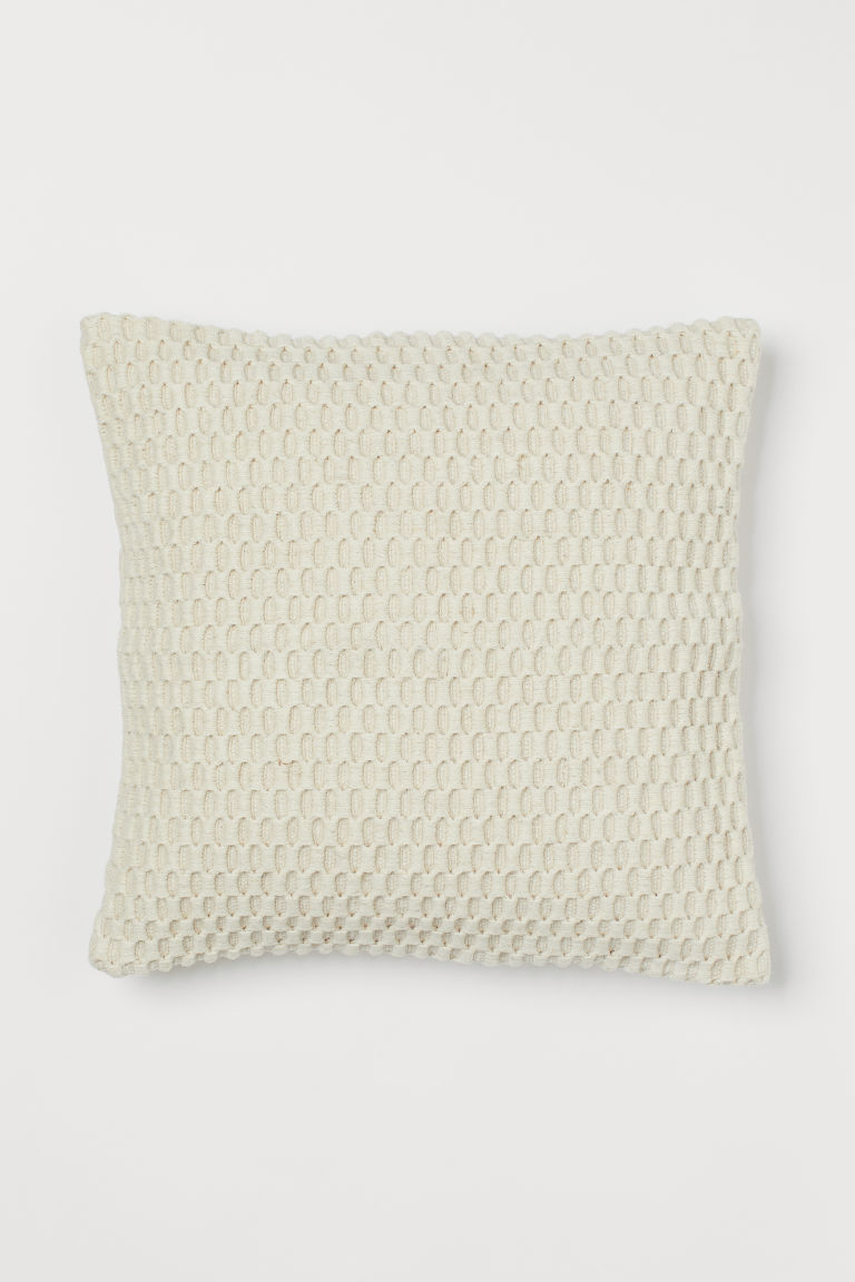 Wool-blend Cushion Cover - Light beige - Home All | H&M CA
