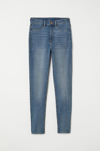 Super Skinny High Jeans - Niebieski denim - ONA | H&M PL