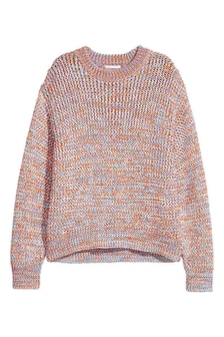 Chunky-knit jumper - Orange/Blue - Ladies | H&M CN