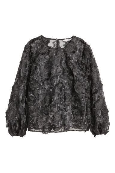 Top ricamato - Nero -  | H&M IT