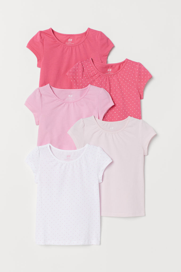 Maglie in jersey, 5 pz - Rosa/pois -  | H&M IT
