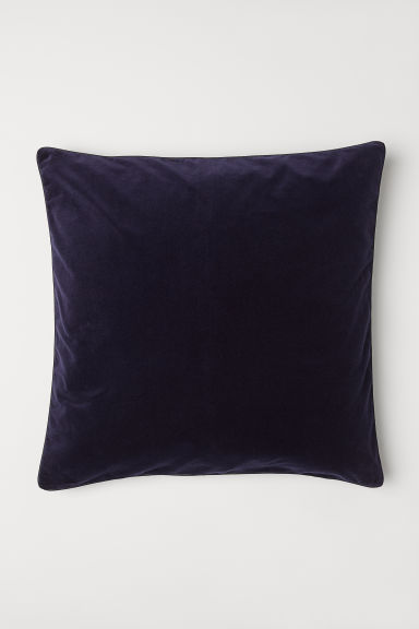 Fluwelen kussenhoes - Donkerblauw - HOME | H&M BE