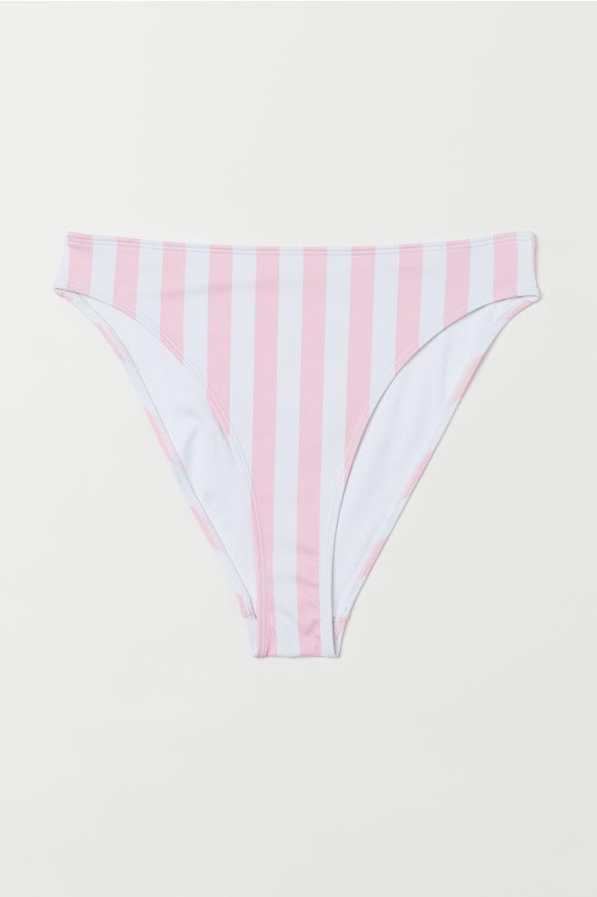 7046ee809f ... Brazilian bikini bottoms - Light pink/White striped - | H&M ...
