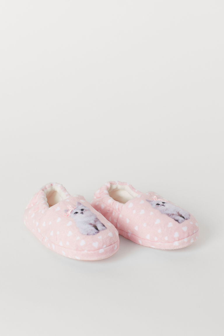 Soft slippers - Light pink/Hearts - Kids | H&M CN