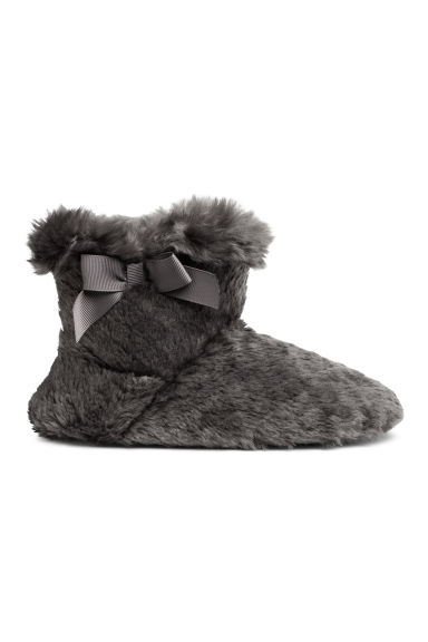 Soft slippers - Dark grey - Kids | H&M IE