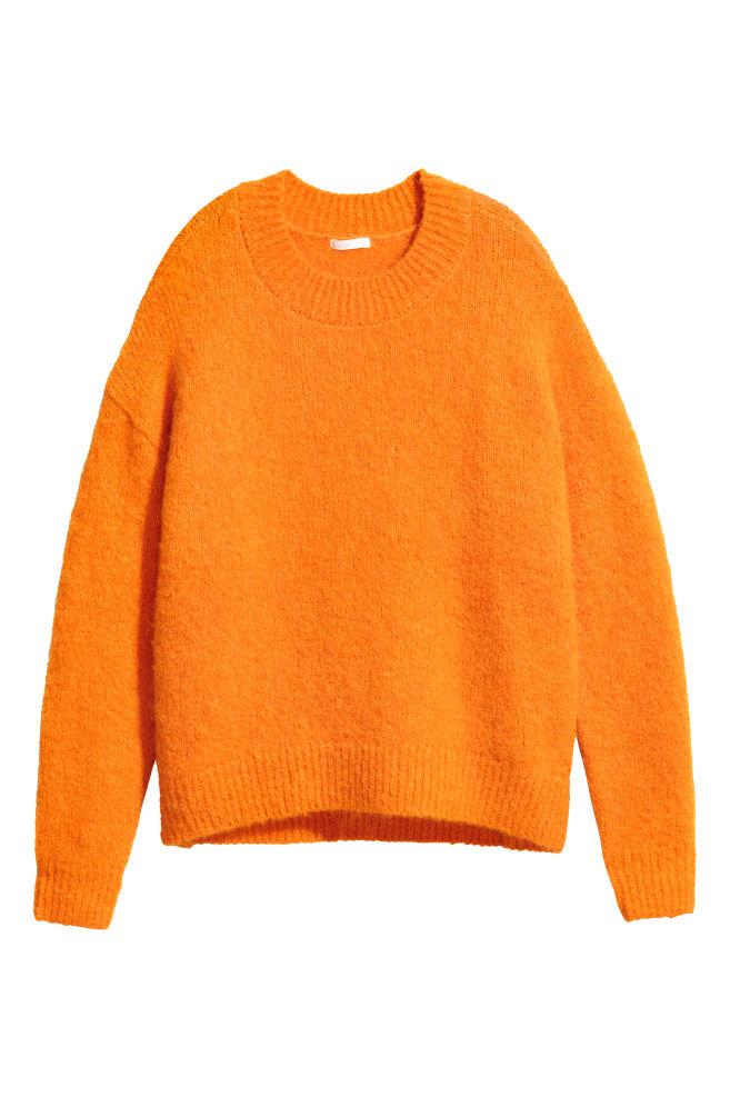 Jersey en mezcla de lana - Naranja - MUJER  a7d38e65a2d9