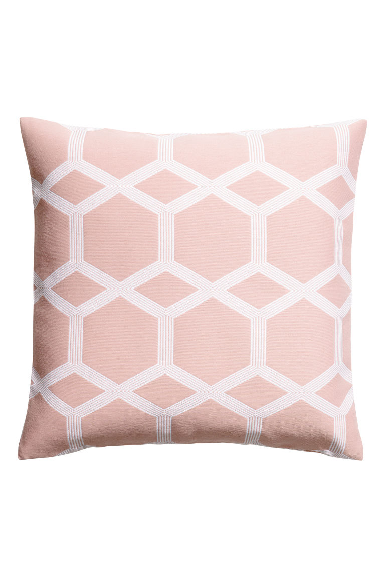 Jacquard-weave cushion cover - Pink -  | H&M IE