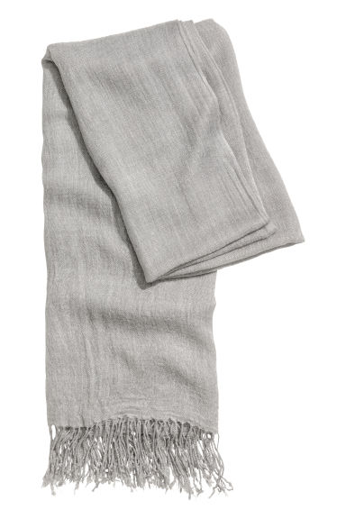 Woven scarf - Light grey -  | H&M IE