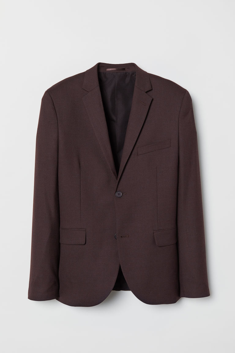 Wool-blend jacket Slim Fit - Burgundy - Men | H&M