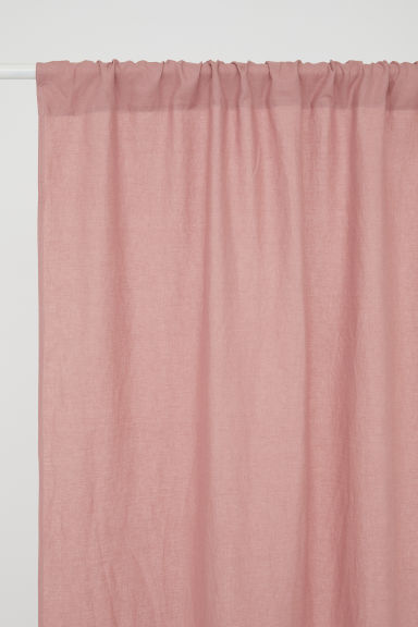 2-pack linen curtain lengths - Pink - Home All | H&M GB