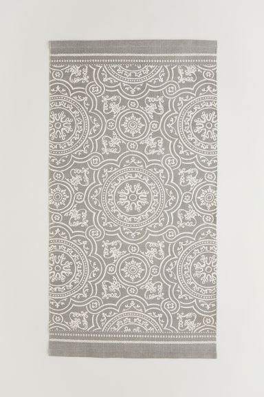 Patterned cotton rug - Grey - Home All | H&M IE