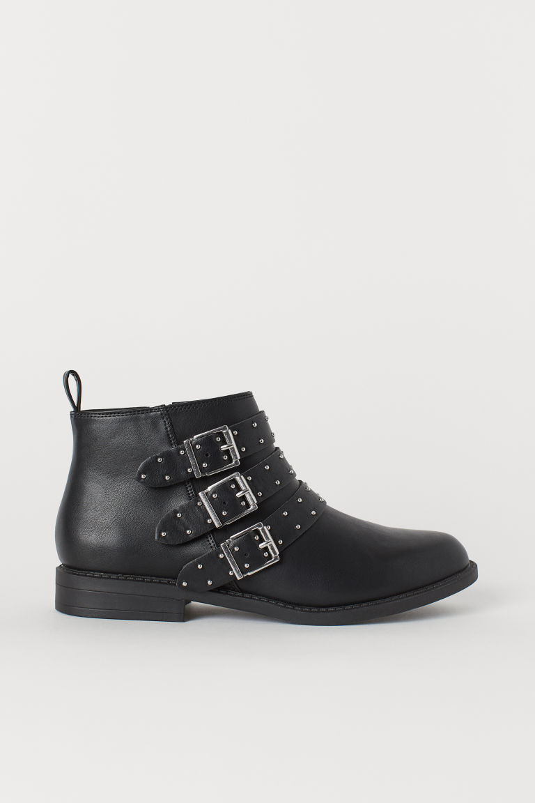 Boots with Studs - Black - Ladies | H&M US