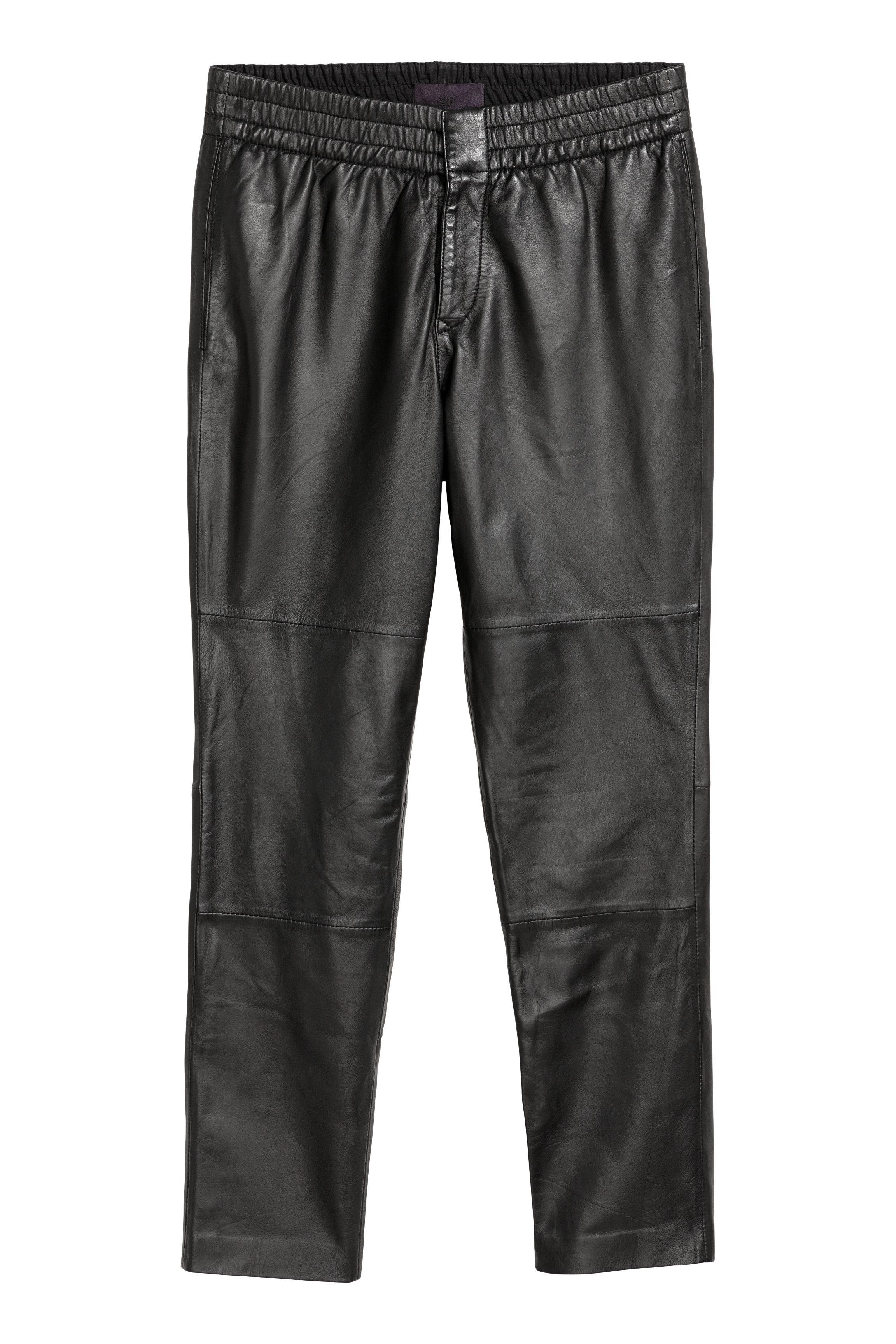 Fonkelnieuw Leren broek - Zwart - HEREN | H&M NL CQ-21
