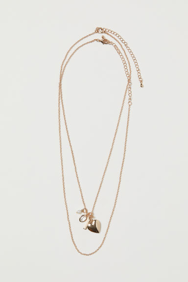 2-pack necklaces with pendants - Gold-coloured - Ladies | H&M