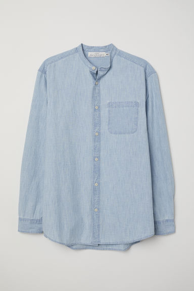 Regular Fit Denim Shirt - Light denim blue - Men | H&M US
