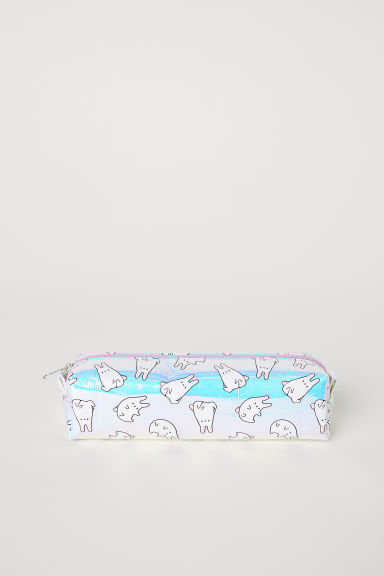Shimmering pencil case - Light purple metallic/Rabbits - Ladies | H&M