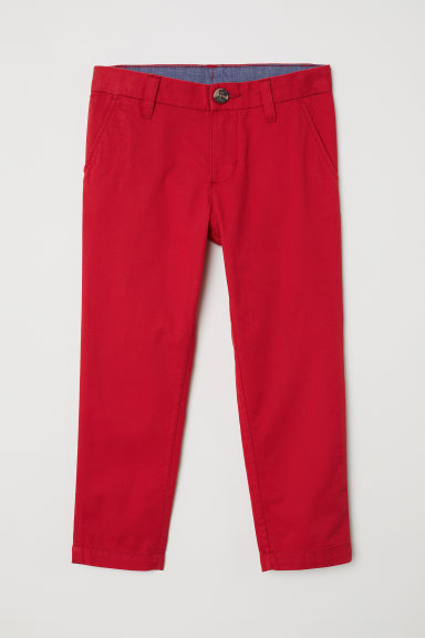 Chinos in cotone - Rosso -  | H&M IT