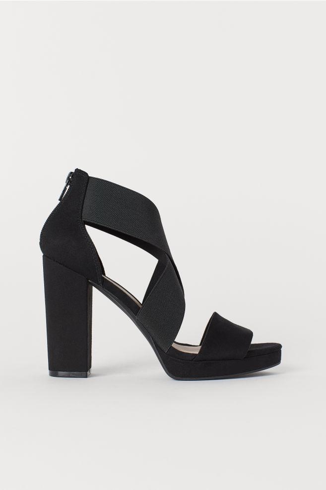 c910e1dc04716e Sandalen mit Elastikbändern - Schwarz - Ladies