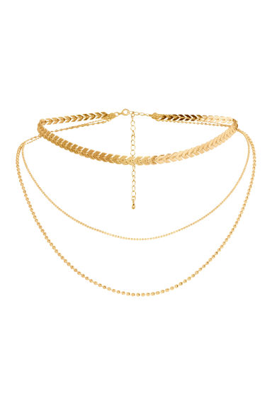 Three-strand necklace - Gold -  | H&M IE