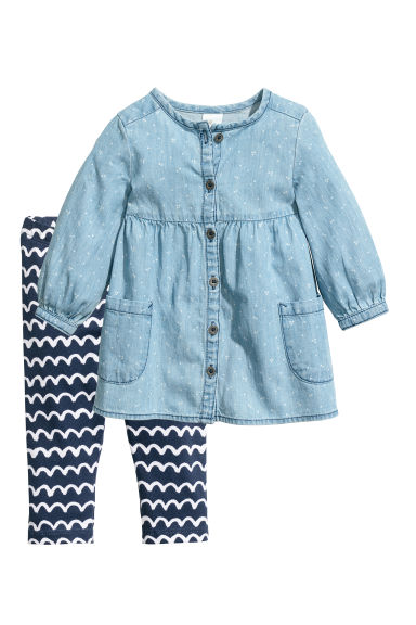 Dress and leggings - Blue - Kids | H&M