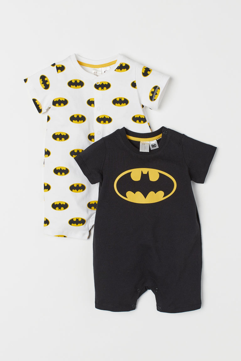 Pyjamas en coton, lot de 2 - Noir/Batman - ENFANT | H&M FR