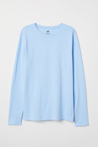 Jersey top - Light blue - Kids | H&M CN