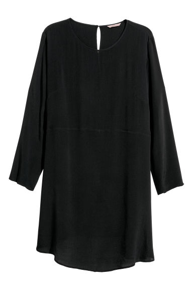 H&M+ Short dress - Black - Ladies | H&M CN