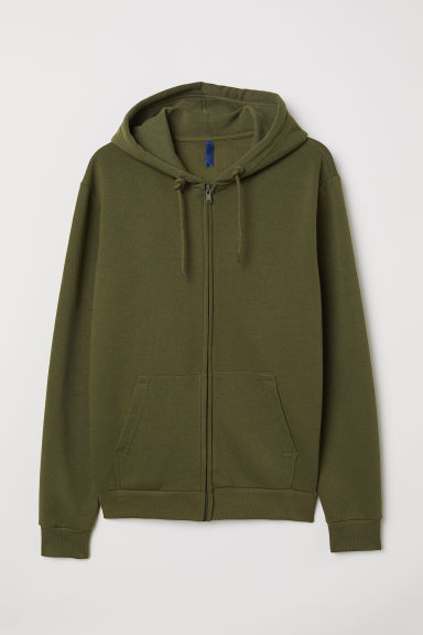 Hooded jacket - Khaki green - Men | H&M