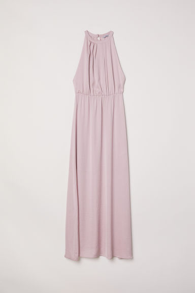 Long dress with a lace back - Powder pink - Ladies | H&M CN