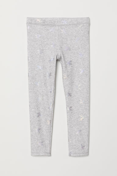 Sweatshirt leggings - Light grey marl/Winged horse - Kids | H&M CN