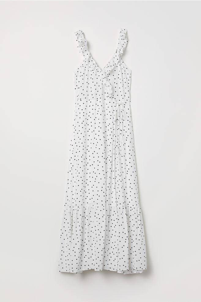 4d93ef5ea9a0 Long flounced dress - White/Spotted - Ladies | H&M ...