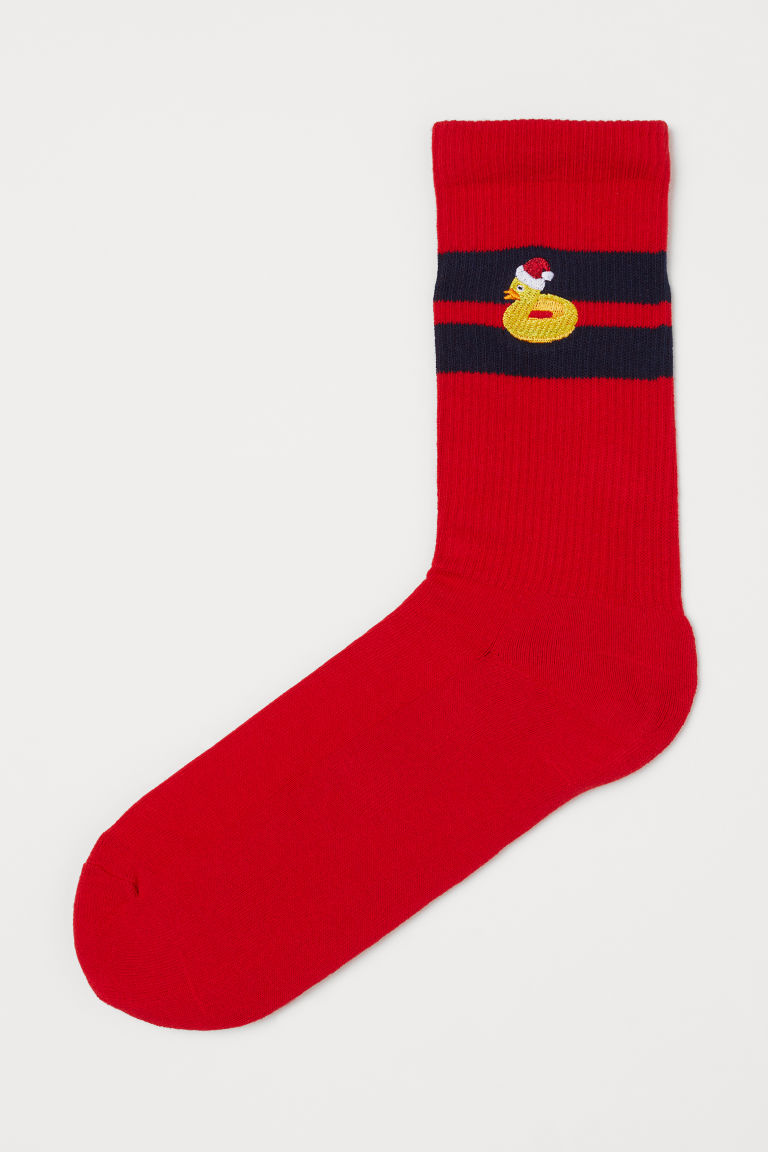 Socks - Red/Rubber duck -  | H&M