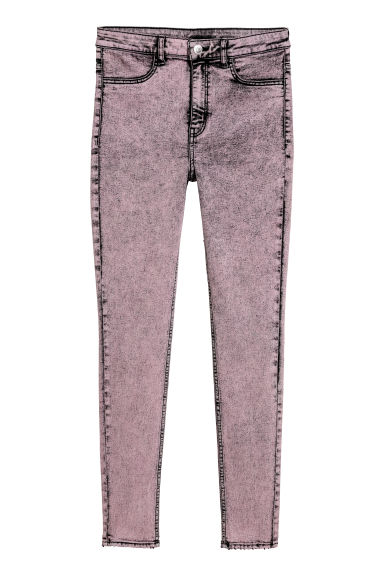 Super Skinny High Jeans - 浅粉红 -  | H&M CN