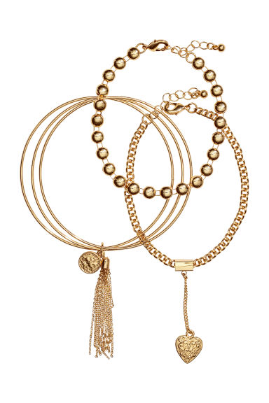 3-pack bracelets - Gold-coloured - Ladies | H&M IE