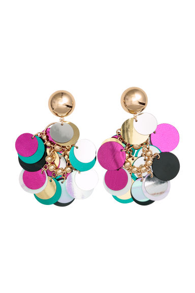 Earrings - Gold-coloured/Multicoloured - Ladies | H&M GB